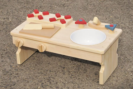 手作り木製ままごとキッチン