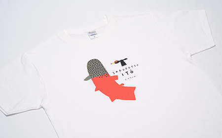 イトウ Tシャツ(白・Mサイズ)【12004】