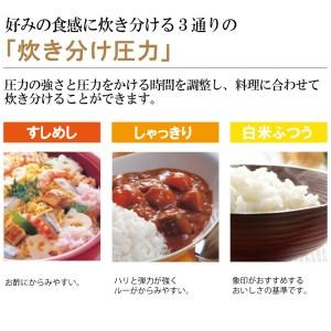 象印圧力IH炊飯ジャー「極め炊き」NPZU18-TD 1升炊き ダークブラウン【納期1.5か月~最長4か月位】