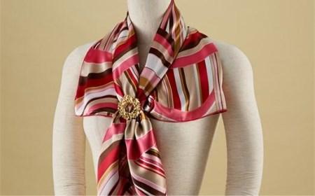 スカーフをお洒落に決めるスカーフ留め「楓」