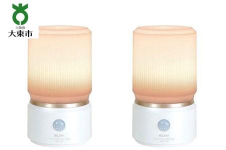 乾電池式 人感&明暗LEDセンサーライト 2台セット