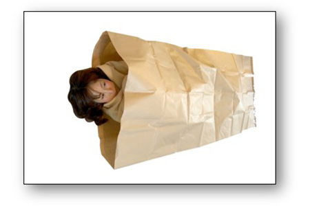 【2635-0004】クラフト製防災寝袋 5枚入り