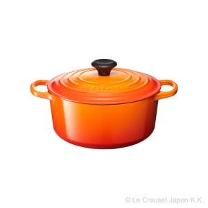 Le Creuset ル・クルーゼ シグニチャーココット・ジャポネーズ 24cm (オレンジ)