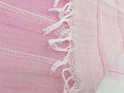 【播州織】ピンク系サテンストール約160cm×60cm ~織物職人×紋紙職人が作るストール~