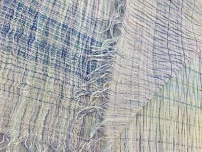 22-9 【播州織】グラデーションハーフストール約200cm×60cm ~織物職人×紋紙職人が作るストール~