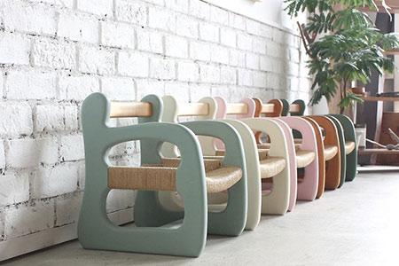 ZD-37  赤ちゃん椅子 ami‐アミ(ホワイト)
