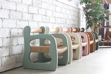 ZE-37  赤ちゃん椅子 ami‐アミ(レッド)