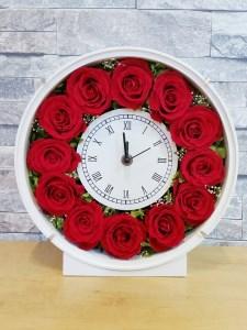 E-16   プリザーブドフラワー 上質のバラの花時計