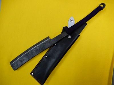 D-37 鍛造仕上 渦巻共柄反刃鉈 両刃