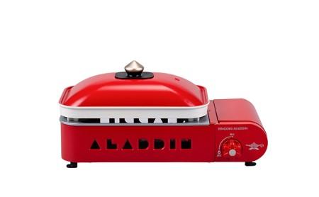 アラジン ポータブル ガス ホットプレート SAG-RS21 レッド