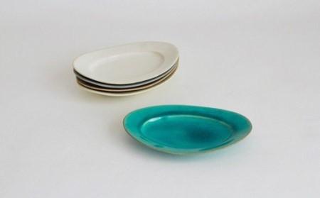 aa26002 【Awabi ware】オーバル皿S 5枚セット