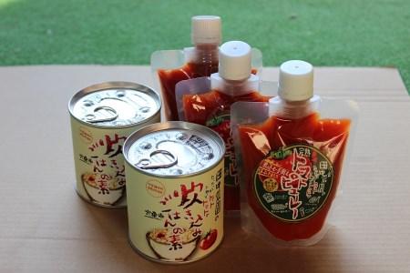 AP4 田中農園自慢のトマト4kgと凝縮トマトピューレ&炊きこみご飯の素