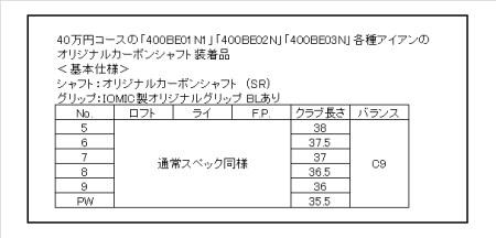 485BE10N.FG-16アイアン #5~Pw(オリジナルカーボンシャフト)