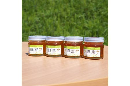 【10-014】ハチミツとち・ハゼ・ソヨゴ・百花、各150g4本セット