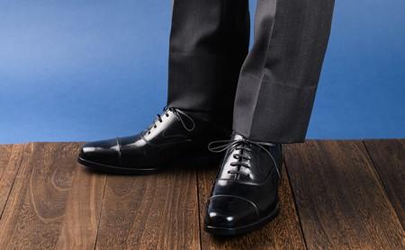 倭イズム 牛革マッケイビジネスシューズ紳士靴YAP600(ブラック) 26.0cm