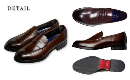 倭イズム牛革マッケイビジネスシューズ紳士靴 YAP700 ダークブラウン 26.5cm