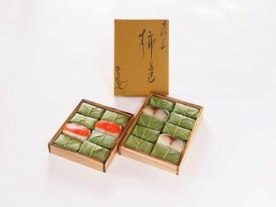 【6401-A20】柿の葉すし 鮭8個入り・鯖10個入り《柿の葉すし ひょうたろう》
