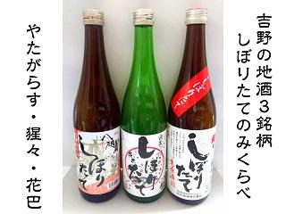 【3103-A19】吉野の地酒3銘柄 しぼりたて呑み比べセット《大七沢井酒店》