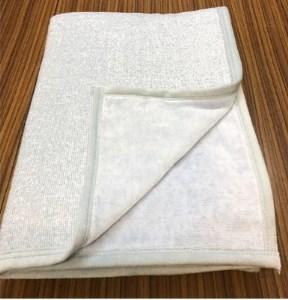 シール織さわやかタオルケット・ブルー(野上織物株式会社)