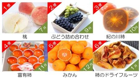 フルーツ定期便 はしもと旬果(7月~1月 ※8月を除く・6回のお届け)