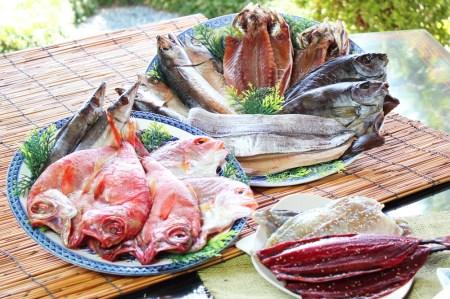 魚鶴特上干物セット9種18枚