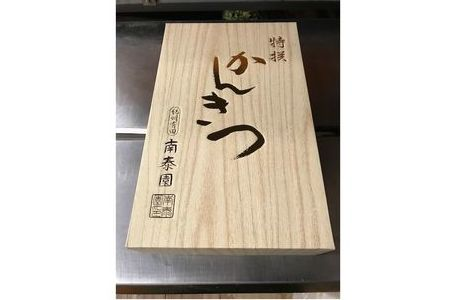 【完熟早生・有田みかん】化粧箱『特秀』約3kg(M~SSサイズおまかせ) 【南泰園】