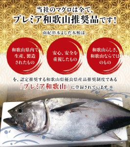 本マグロ 中とろ 400gサク 「プレミア和歌山認定」 和歌山県でも指折りの好漁場で養殖された本鮪!【mhs101】