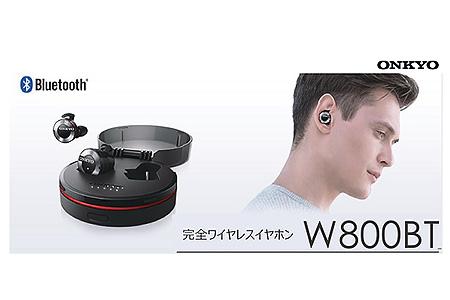 鳥取県倉吉市 完全ワイヤレスイヤホン【W800BTB】