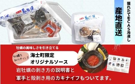 【旨味そのまま!】いわがき春香殻付きSサイズ×2個(340g~470g)◆ナイフ付き