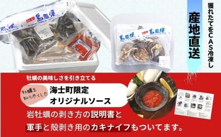 【旨味そのまま!】いわがき春香殻付きSSサイズ×6個(840g~1.02kg)◆ナイフ付き