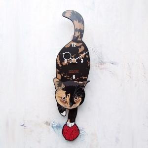 <C-33 サビ-猫の振り子時計>