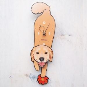 <D-111 ゴールデン ラブラドール・レトリバー-犬の振り子時計>