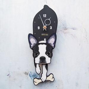 <D-181 ボストンテリア-犬の振り子時計>