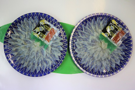 萩の真ふぐ刺身(2皿)