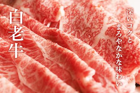【2631-0013】白老牛すき焼き食べ比べ