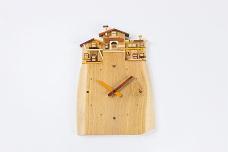 0049 工房 外山の天然木掛け時計