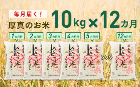 0001 【新米発送開始!】毎月届く「北海道あつまのブランド米10kg」12ヵ月定期便コース
