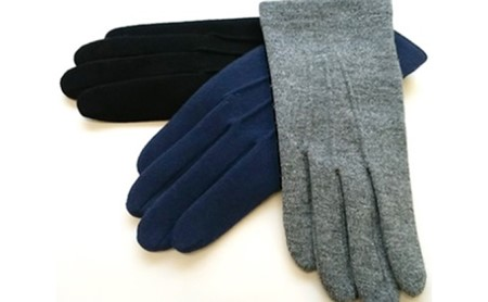 """""""オリーブの恵みシリーズ"""" 冬保湿手袋紳士 ブラック"""