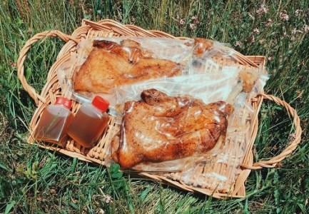 骨付鳥つぼ屋 おやどり 3本セット とりの旨味を凝縮したチキンオイル付【H-58】