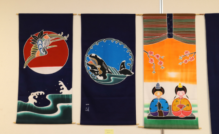 高知県伝統的特産品 吉川染物店のタペストリー(小)H-10