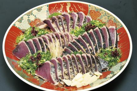 D-21 割烹吉野 炙り生鰹のタタキ