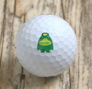 N230 【久留米市オリジナル】「くるっぱ」のゴルフボール「PHYZ」久留米絣小物入れ付