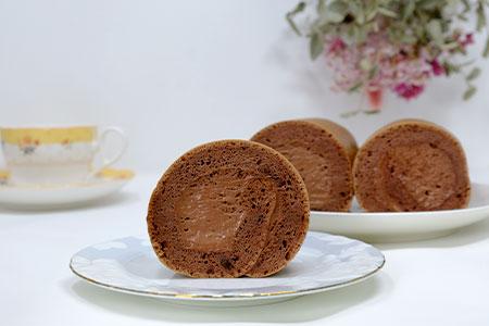 【低糖質】手作り大豆粉ロールケーキ(ココア)