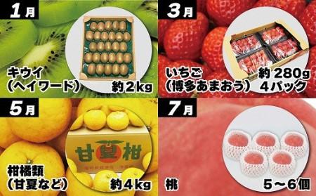 旬のフルーツ定期便 年6回【奇数月コース】【随時開始】[B5230]