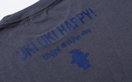 K933-L うきぴーTシャツ (ダークグレー) Lサイズ