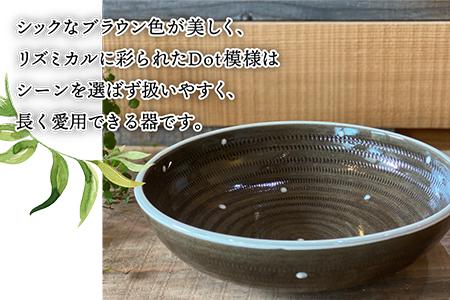 D7【上鶴窯】Large bowl DOTシリーズ