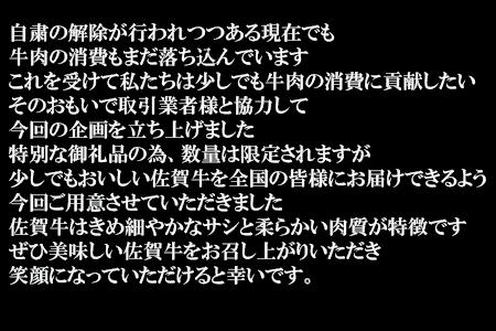 『緊急生産者支援特別企画』佐賀牛サーロイン1kg(250g×4枚) 【ふるなび】