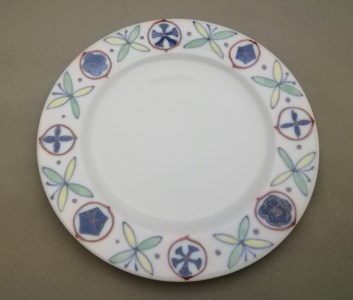 H478彩花蝶割パン皿