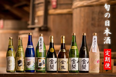 F100-015【定期便】旬の日本酒便!年6回お届け 10万円コース