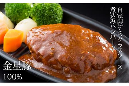 B12-090 佐賀産金星豚デミグラス煮込みハンバーグ(4個) 1万2千円コース